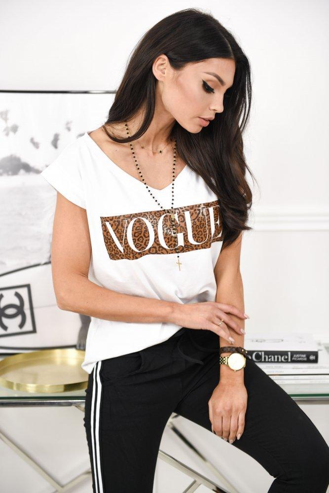 T-SHIRT VOGUE V - white