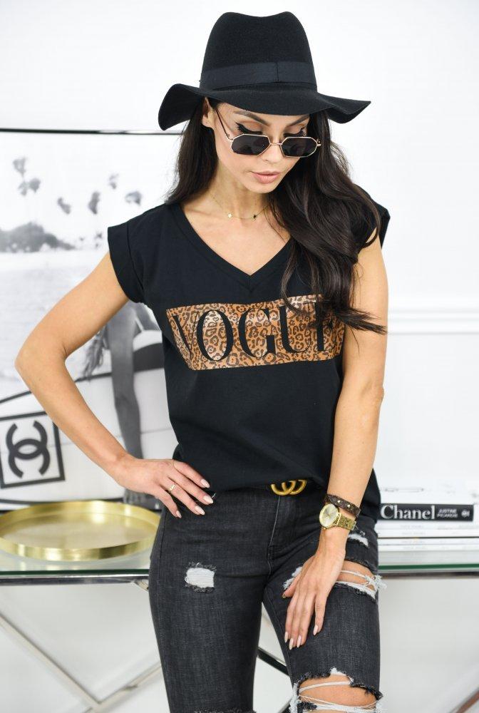 T-SHIRT VOGUE V - black