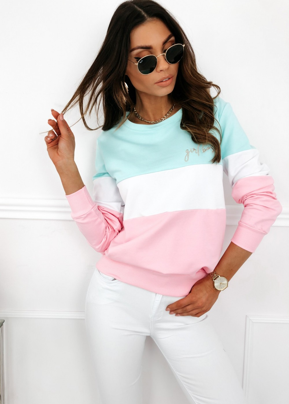 BLUZA GIRL BOSS - pastel