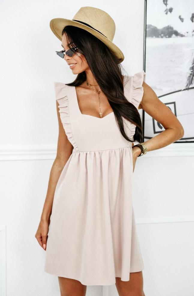 Sukienka z wiskozy Nude - Lasarta.pl - Sklep odzieżowy
