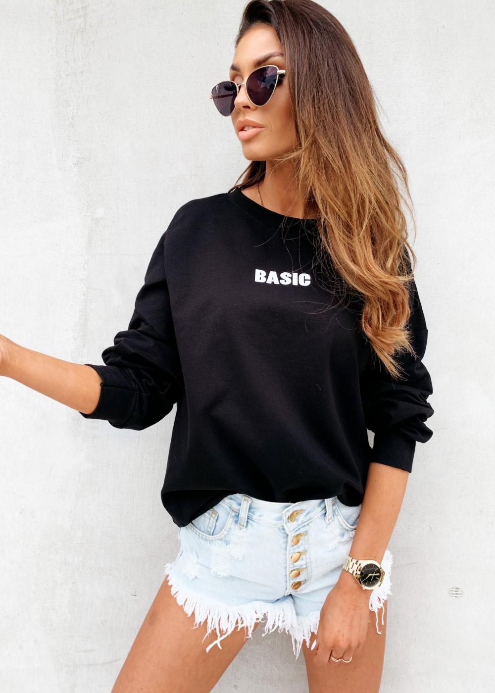 BLUZA BASIC - black