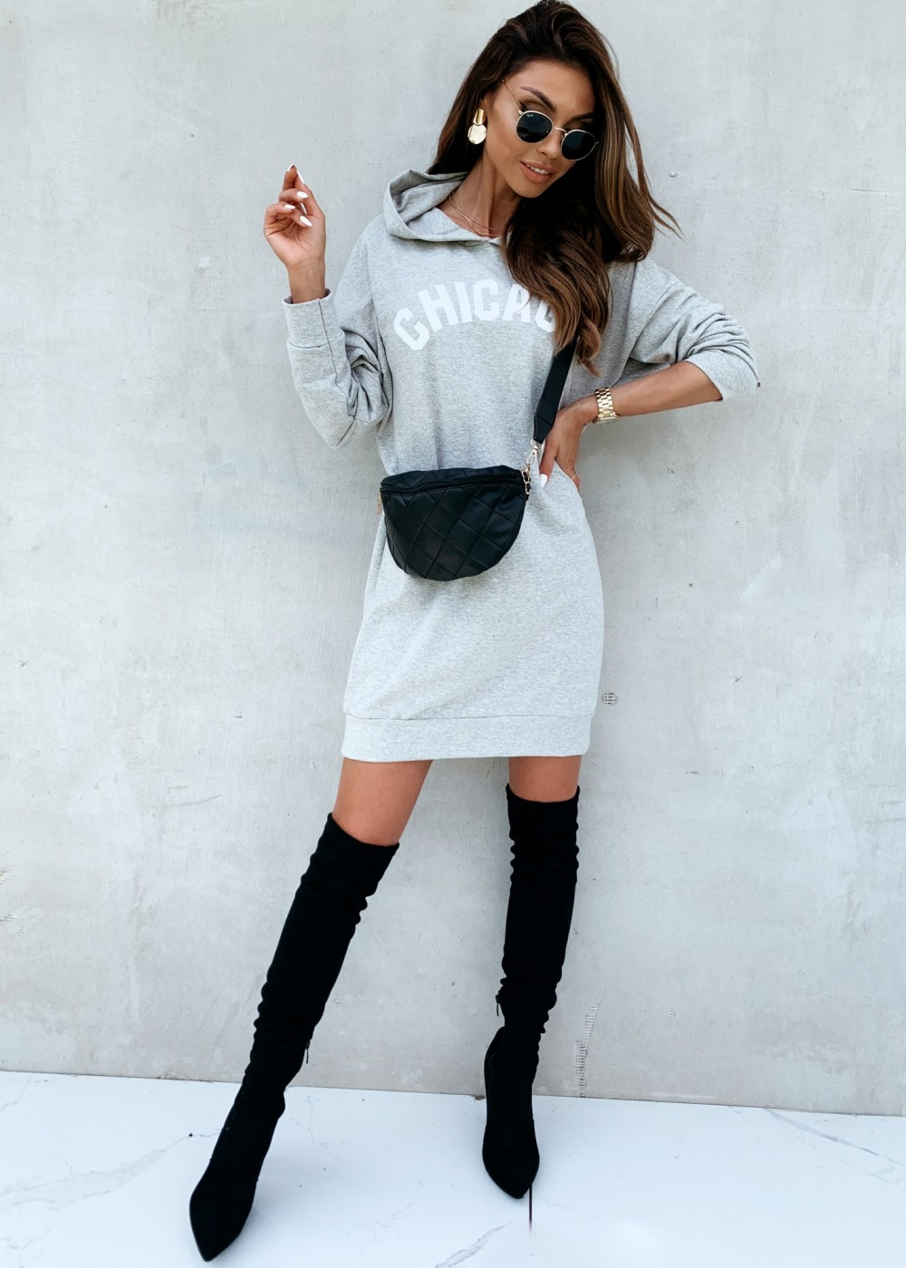 BLUZA CHICAGO - gray