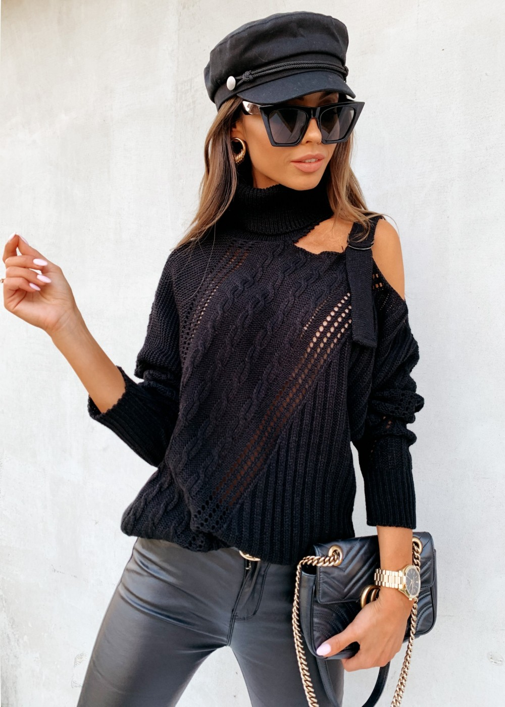 SWETER AZALIA - black