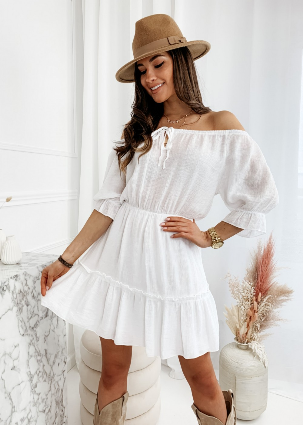 SUKIENKA MANDY - white