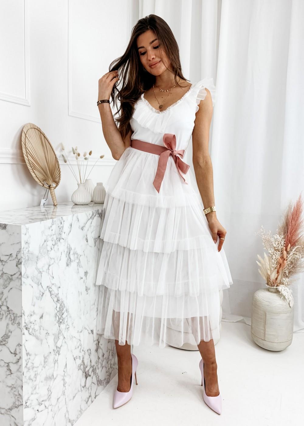 SUKIENKA MAXI PRINCESS - white