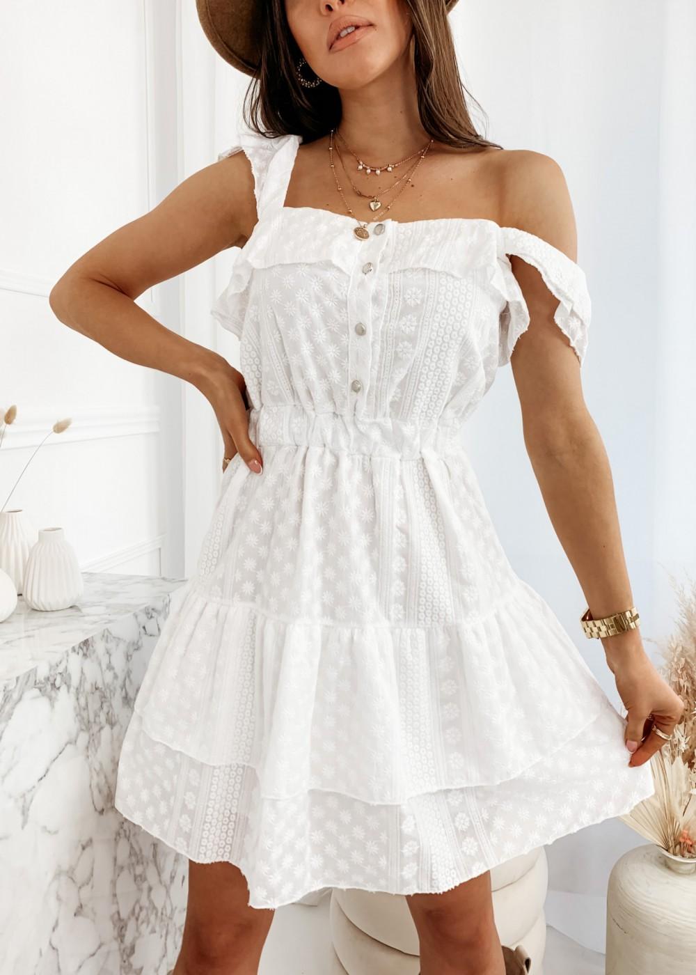 SUKIENKA ALIS - white