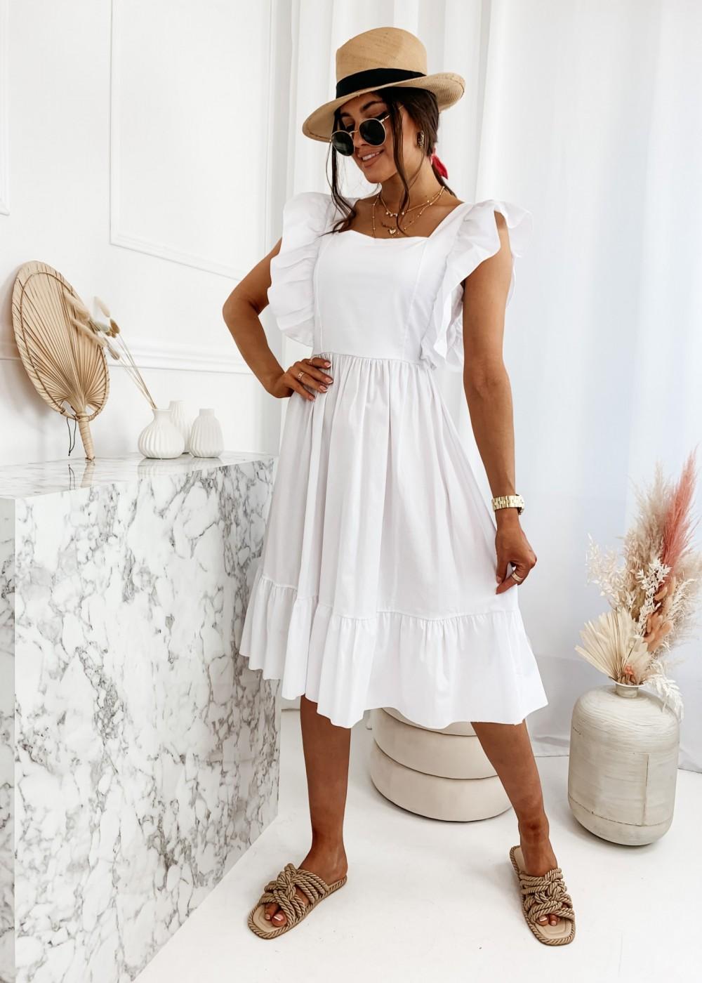 SUKIENKA EVIA - white