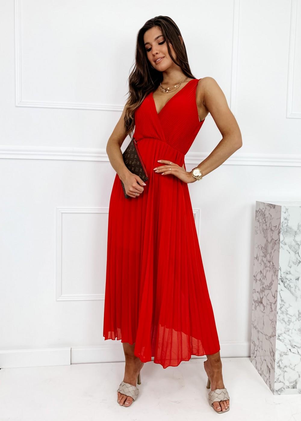 SUKIENKA MAXI BRIDE - red