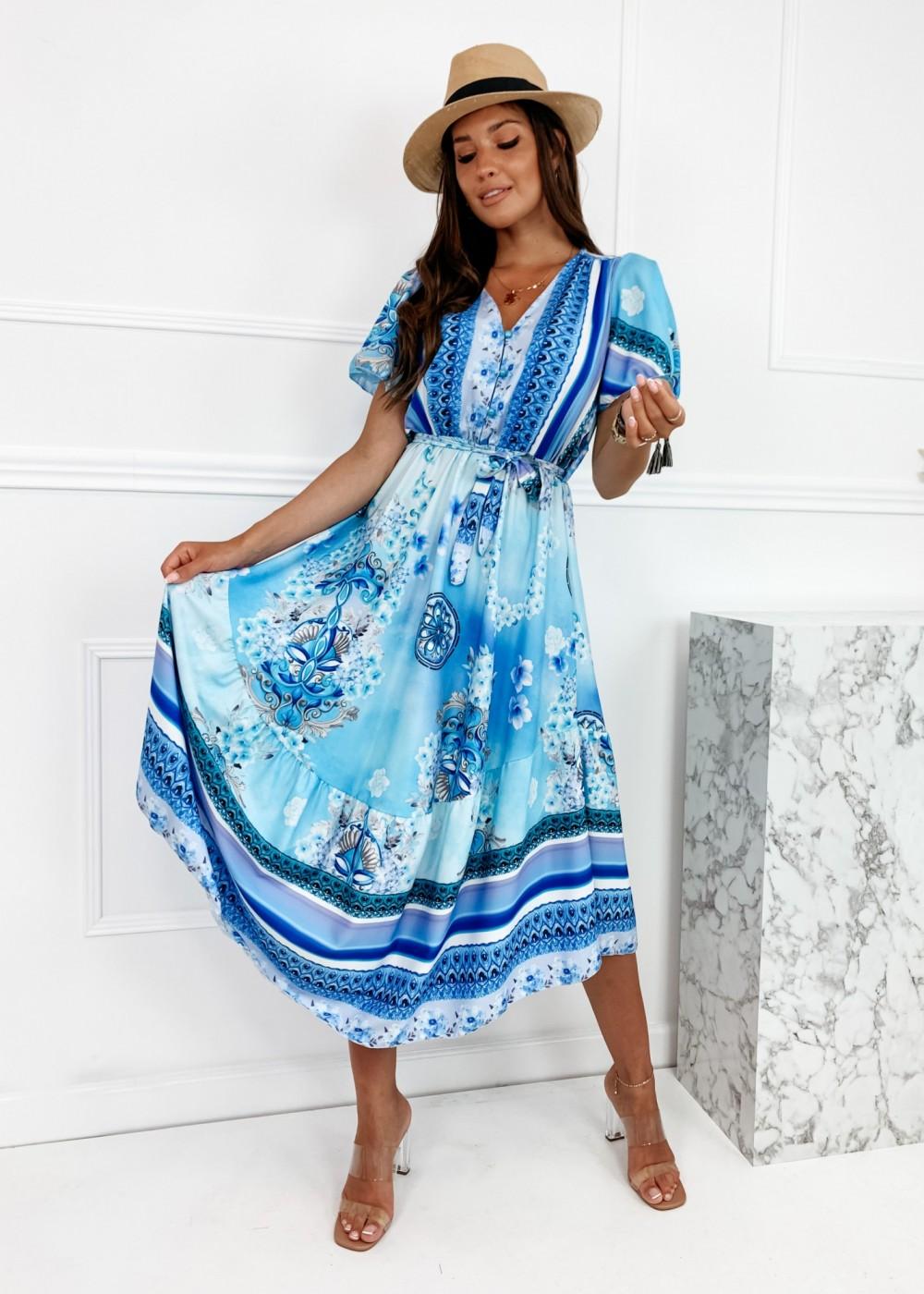 SUKIENKA MYKONOS - blue