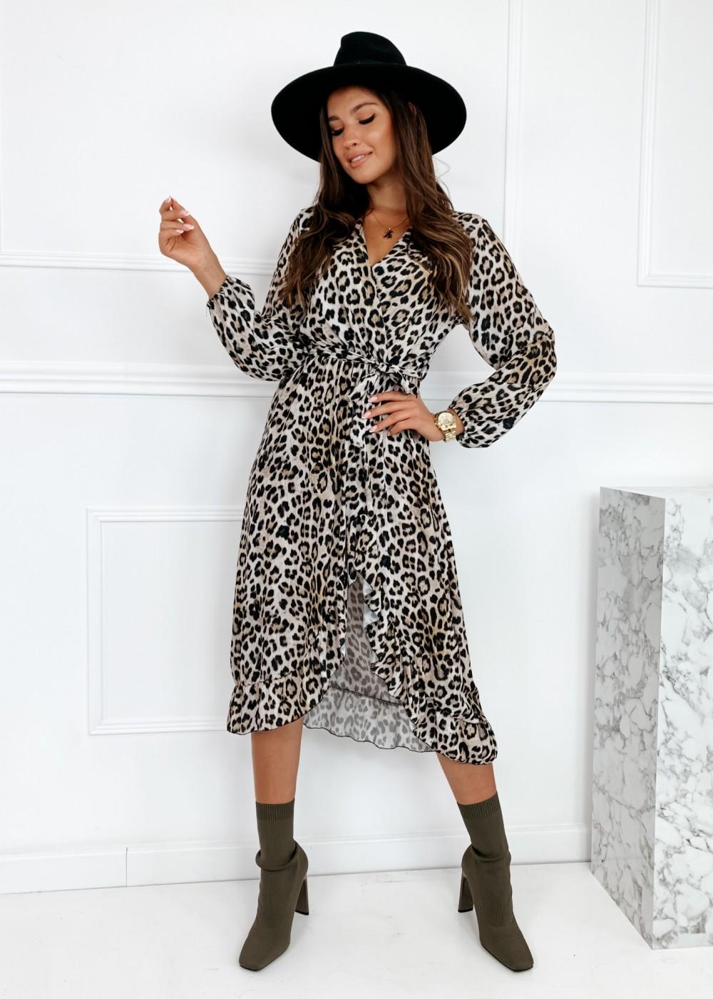SUKIENKA MAXI AGGI - leopard