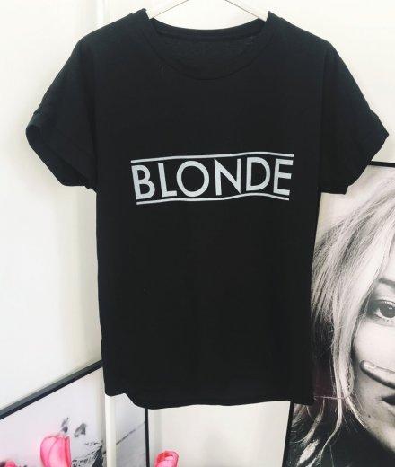 T-SHIRT BLONDE - czarny