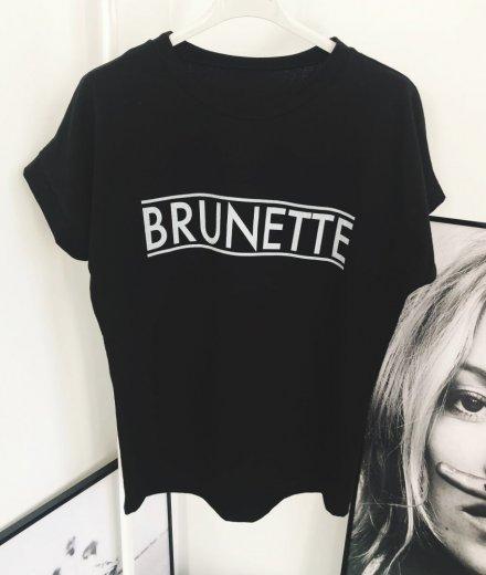 T-SHIRT BRUNETTE - czarny