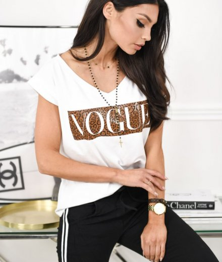 T-SHIRT VOGUE V - white