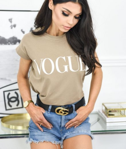 T-SHIRT VOGUE - camel