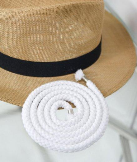 SZNUR do ubrań - biały