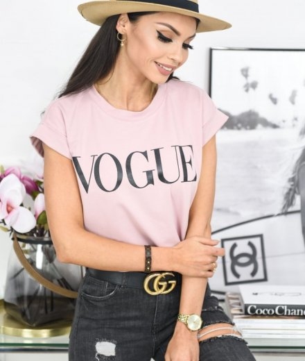 T-SHIRT VOGUE - puder