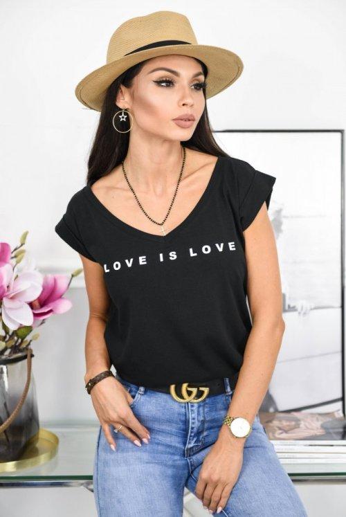 T-SHIRT LOVE - czarny