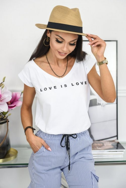 T-SHIRT LOVE - biały