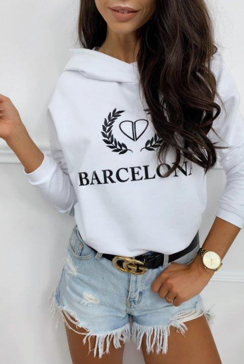 BLUZA BARCELONA - biała