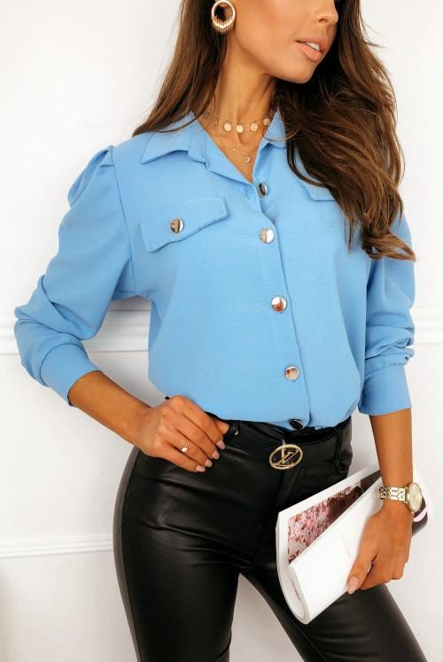 KOSZULA CLASSIE - blue jeans