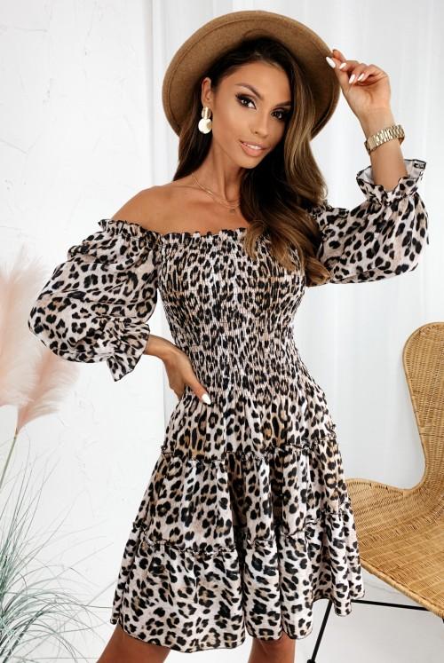 SUKIENKA LUCIA - leopard