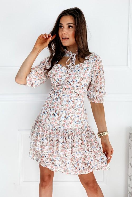 SUKIENKA AMI FLOWER - biała