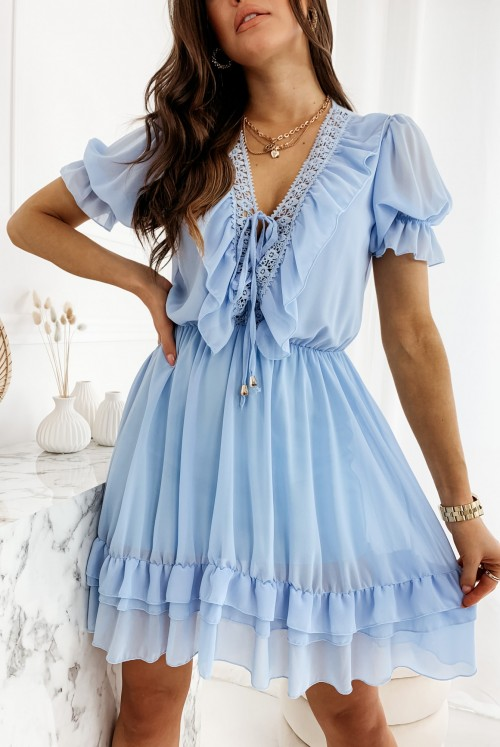 SUKIENKA BOHI - baby blue