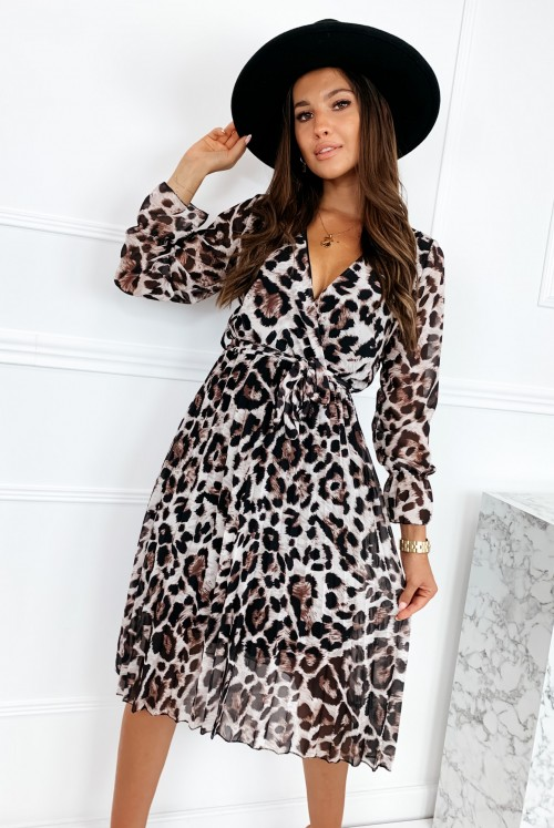 SUKIENKA MIDI LAULIA - leopard